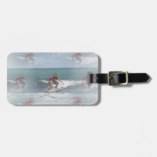 Surfing USA Luggage Tag