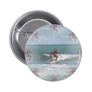 Surfing USA Round Button