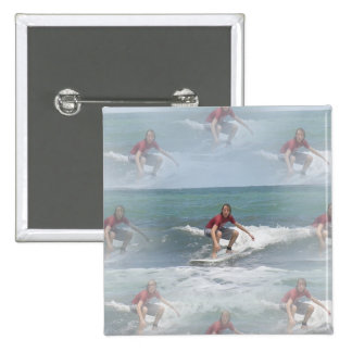 Surfing USA Square Pin