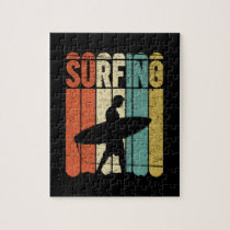 Surfing Vintage Jigsaw Puzzle
