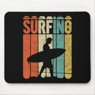 Surfing Vintage Mouse Pad