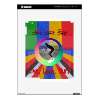 Surfing water sports art design skin for iPad 3