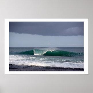 Surfing Wave Reef Break Nias Poster