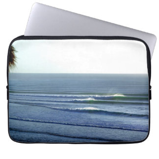 Surfing Waves Breaking in Bali Laptop Sleeve