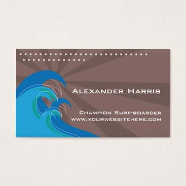 Professional Business Surfing Waves Card