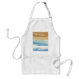 Surfing Waves in Motion Ocean Waves Beach Decor Adult Apron
