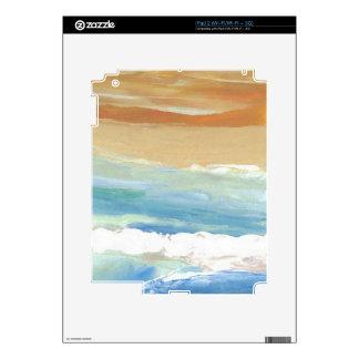 Surfing Waves in Motion Ocean Waves Beach Decor iPad 2 Skin