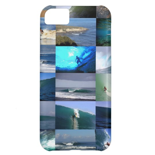 Surfing waves montage iPhone 5C cover