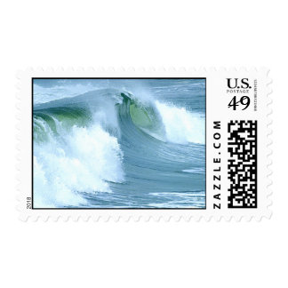 surfing waves postage