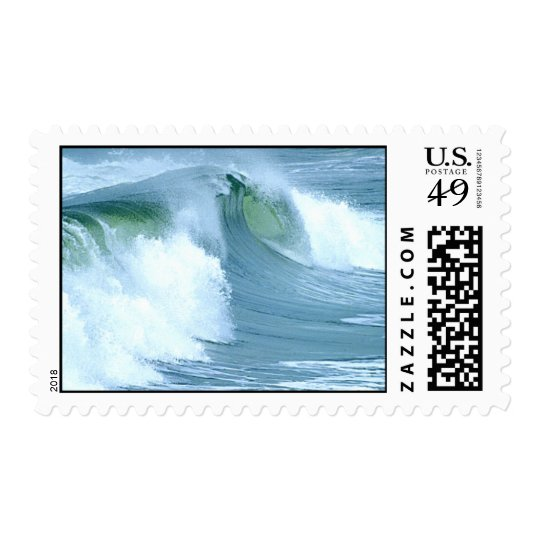 surfing waves postage