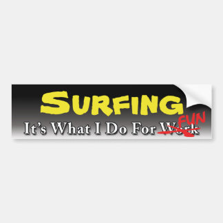 Surfing - What I Do For FUN Sticker