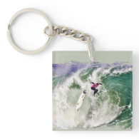 Surfing Wipeout Acrylic Key Chain