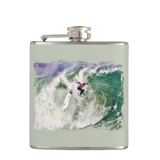 Surfing Wipeout Flask