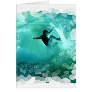 Surfing Wipeout Greeting Card