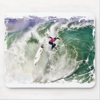 Surfing Wipeout Mouse Pad