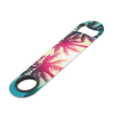 Surfing with palm trees speed bottle opener