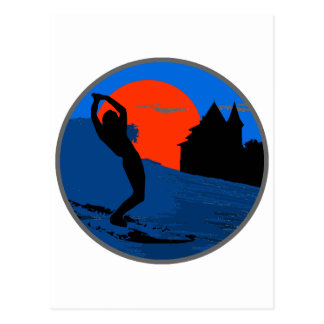 Surfista de Biarritz Tarjeta Postal