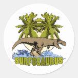 Surfosaurus Etiquetas Redondas