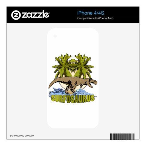 Surfosaurus Skins Para eliPhone 4S