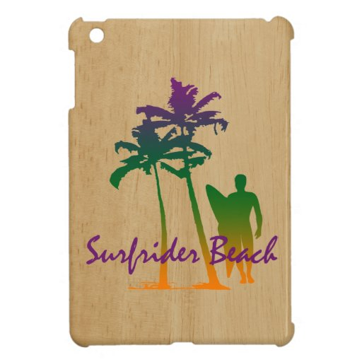 Surfrider Beach Hawaiian iPad Mini Cases