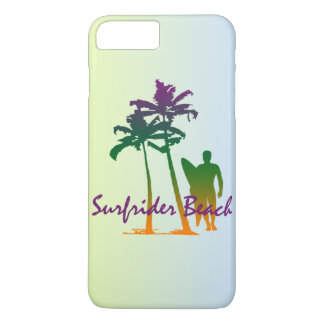 Surfrider Beach Hawaiian Palm Tree Blend iPhone 7 Plus Case