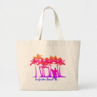Surfrider Beach Hawaiian Palm Tree Blend Large Tote Bag