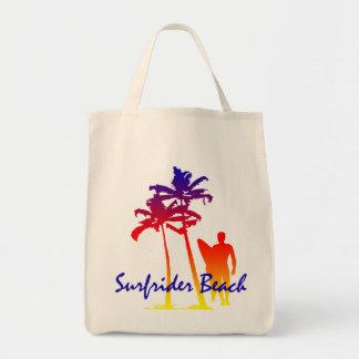 Surfrider Beach Hawaiian Palm Tree Blend Tote Bag