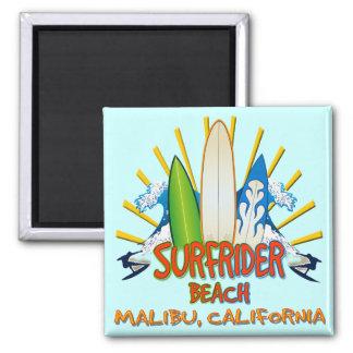 Surfrider Beach, Malibu, California 2 Inch Square Magnet