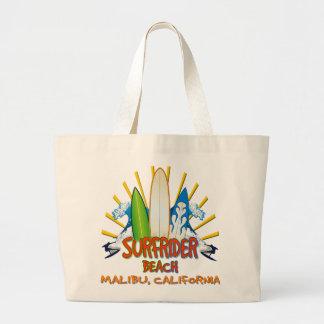 Surfrider Beach, Malibu, California Canvas Bags