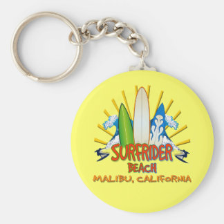 Surfrider Beach, Malibu, California Basic Round Button Keychain