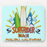 Surfrider Beach, Malibu, California Mousepads