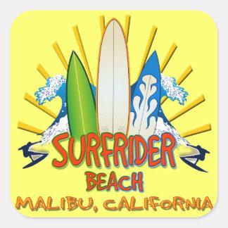 Surfrider Beach, Malibu, California Square Stickers