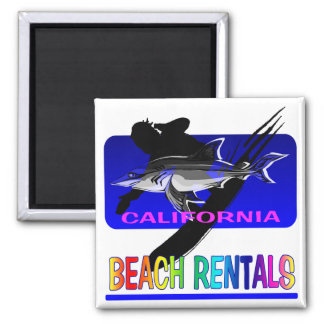 Surf's Up 2 Inch Square Magnet