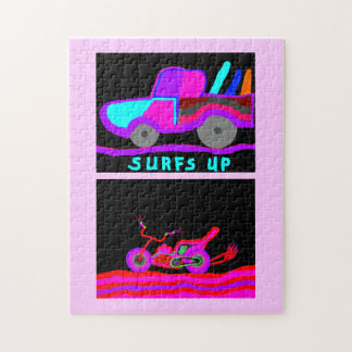 surfs up and motorcycle puzzle