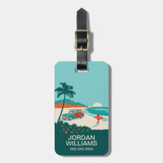 Surf's Up Bag Tags