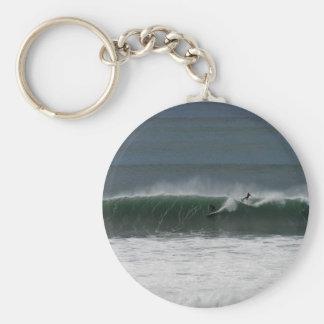Surf's up! basic round button keychain