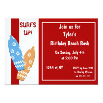 Surfs Up! Beach Party Invitations