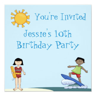 Surf's Up Beach Party Invitations