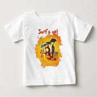 Surf's Up! Beach Scene Baby T-Shirt