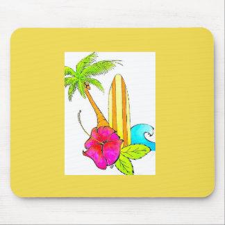 Surfs Up Beachy Sunshine mousepad