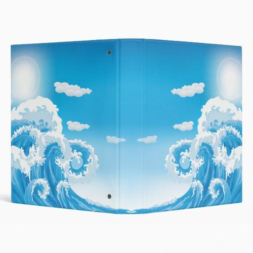 Surf's Up Vinyl Binder
