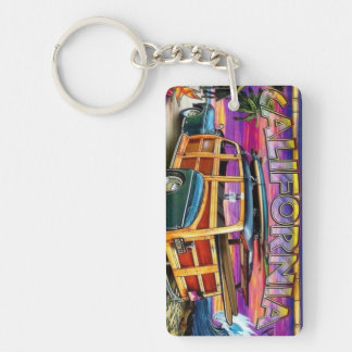 Surfs Up California Keychain