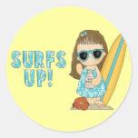 Surfs Up! Classic Round Sticker