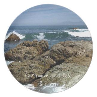 Surf's Up; Customizable Melamine Plate