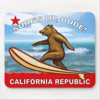 Surfs Up Dude California Mousepads