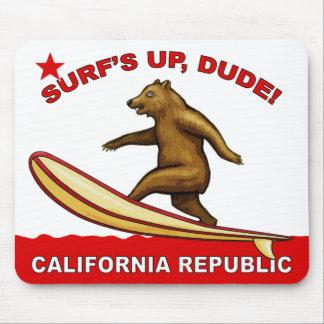 Surfs Up Dude California Mousepads Light