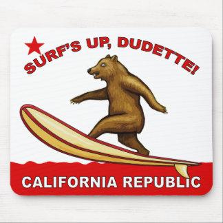 Surfs Up Dudette California Mousepads Light