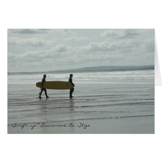 Surf's Up, Enniscrone, Co. Sligo Card