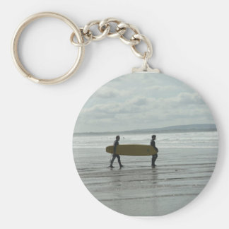 Surf's Up, Enniscrone, Co. Sligo Keychain