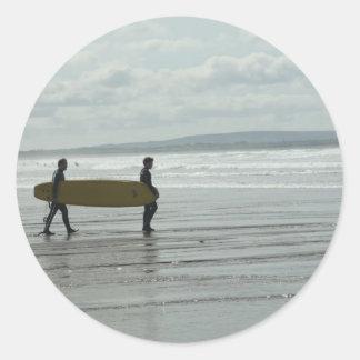 Surf's Up, Enniscrone, Co. Sligo Round Stickers